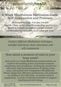 Mindfulness Meditation Class Flyer